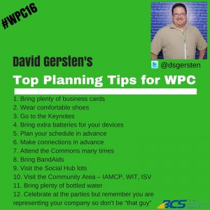 David's WPC planning tips