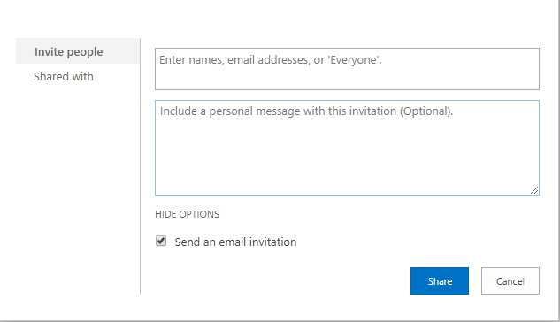 SharePoint   Inviting an External User and Granting Access to a File/Folder