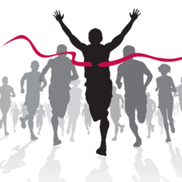 Winning Athlete crosses the finish line | Digital Transformation Is a Journey