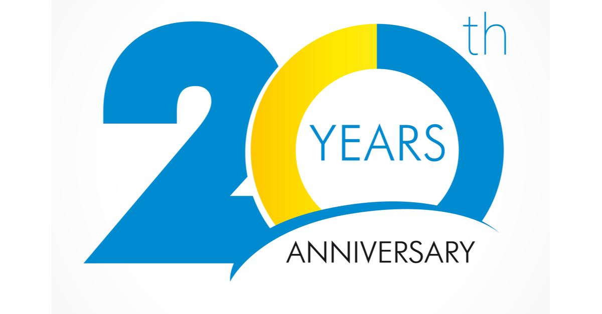 20 years old celebrating classic logo.